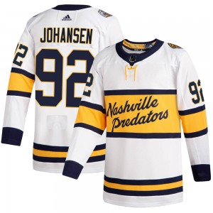 Men's Nashville Predators Ryan Johansen Adidas Authentic 2020 Winter Classic Jersey - White