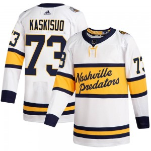 Men's Nashville Predators Kasimir Kaskisuo Adidas Authentic 2020 Winter Classic Player Jersey - White