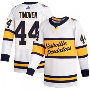 Men's Nashville Predators Kimmo Timonen Adidas Authentic 2020 Winter Classic Jersey - White