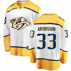 Men's Nashville Predators Viktor Arvidsson Fanatics Branded Breakaway Away Jersey - White