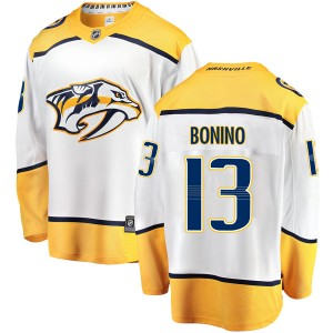 Men's Nashville Predators Nick Bonino Fanatics Branded Breakaway Away Jersey - White