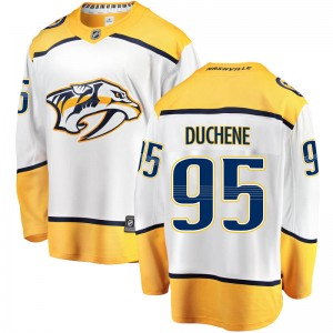 Men's Nashville Predators Matt Duchene Fanatics Branded Breakaway Away Jersey - White