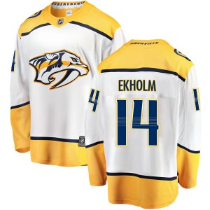 Men's Nashville Predators Mattias Ekholm Fanatics Branded Breakaway Away Jersey - White
