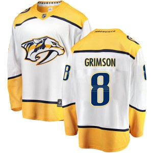 Men's Nashville Predators Stu Grimson Fanatics Branded Breakaway Away Jersey - White