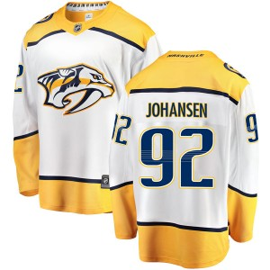 Men's Nashville Predators Ryan Johansen Fanatics Branded Breakaway Away Jersey - White