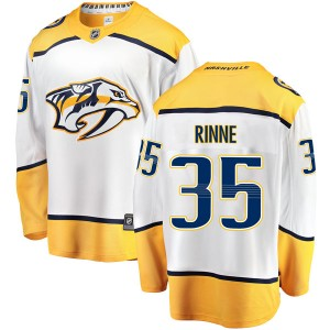 Men's Nashville Predators Pekka Rinne Fanatics Branded Breakaway Away Jersey - White