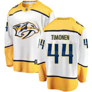 Men's Nashville Predators Kimmo Timonen Fanatics Branded Breakaway Away Jersey - White