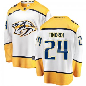 Men's Nashville Predators Jarred Tinordi Fanatics Branded Breakaway Away Jersey - White