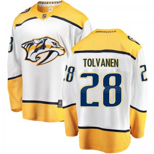 Men's Nashville Predators Eeli Tolvanen Fanatics Branded Breakaway Away Jersey - White