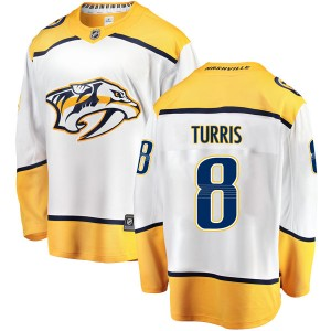 Men's Nashville Predators Kyle Turris Fanatics Branded Breakaway Away Jersey - White