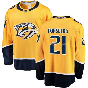 Men's Nashville Predators Peter Forsberg Fanatics Branded Breakaway Home Jersey - Gold
