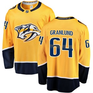 Men's Nashville Predators Mikael Granlund Fanatics Branded Breakaway Home Jersey - Gold
