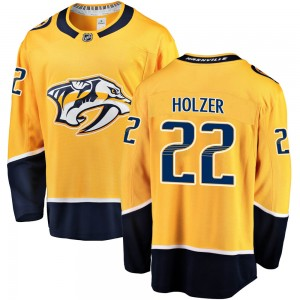 Men's Nashville Predators Korbinian Holzer Fanatics Branded ized Breakaway Home Jersey - Gold