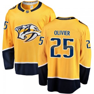 Men's Nashville Predators Mathieu Olivier Fanatics Branded Breakaway Home Jersey - Gold