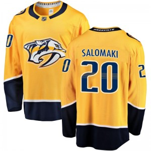 Men's Nashville Predators Miikka Salomaki Fanatics Branded Breakaway Home Jersey - Gold
