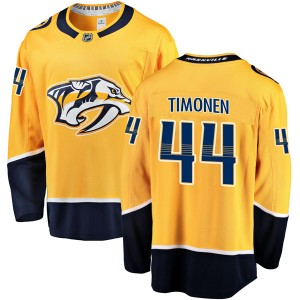 Men's Nashville Predators Kimmo Timonen Fanatics Branded Breakaway Home Jersey - Gold