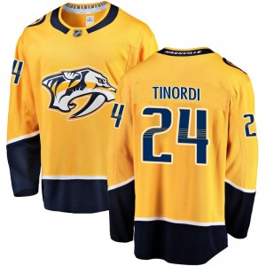 Men's Nashville Predators Jarred Tinordi Fanatics Branded Breakaway Home Jersey - Gold