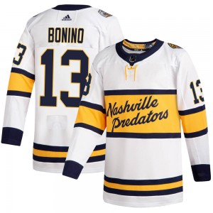 Youth Nashville Predators Nick Bonino Adidas Authentic 2020 Winter Classic Jersey - White