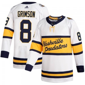Youth Nashville Predators Stu Grimson Adidas Authentic 2020 Winter Classic Jersey - White