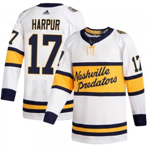 Youth Nashville Predators Ben Harpur Adidas Authentic 2020 Winter Classic Player Jersey - White