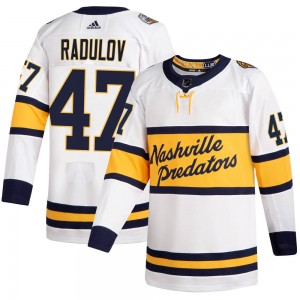 Youth Nashville Predators Alexander Radulov Adidas Authentic 2020 Winter Classic Jersey - White
