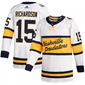 Youth Nashville Predators Brad Richardson Adidas Authentic 2020 Winter Classic Player Jersey - White