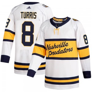 Youth Nashville Predators Kyle Turris Adidas Authentic 2020 Winter Classic Jersey - White