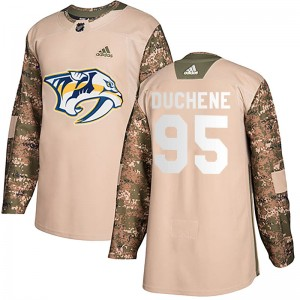 Men's Nashville Predators Matt Duchene Adidas Authentic Veterans Day Practice Jersey - Camo