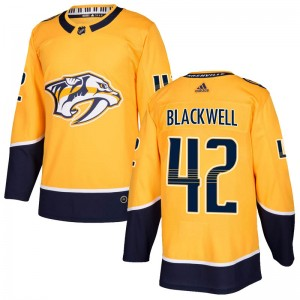 Men's Nashville Predators Colin Blackwell Adidas Authentic Home Jersey - Gold