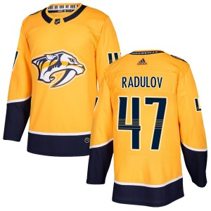 Men's Nashville Predators Alexander Radulov Adidas Authentic Home Jersey - Gold