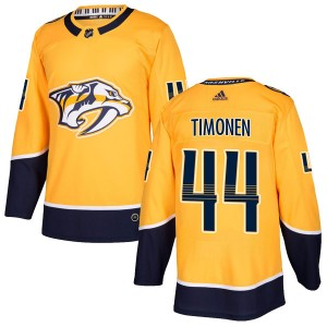 Men's Nashville Predators Kimmo Timonen Adidas Authentic Home Jersey - Gold