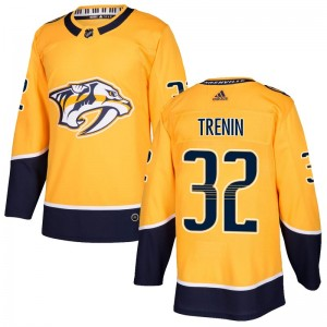 Men's Nashville Predators Yakov Trenin Adidas Authentic Home Jersey - Gold