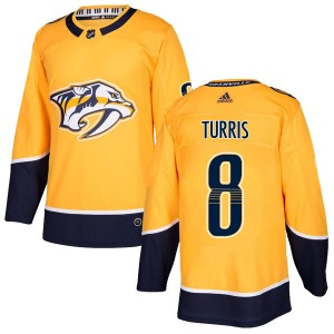 Men's Nashville Predators Kyle Turris Adidas Authentic Home Jersey - Gold