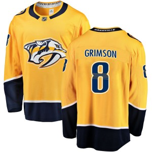 Youth Nashville Predators Stu Grimson Fanatics Branded Breakaway Home Jersey - Gold