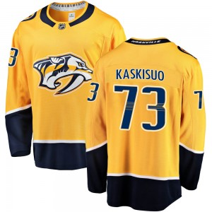 Youth Nashville Predators Kasimir Kaskisuo Fanatics Branded Breakaway Home Jersey - Gold