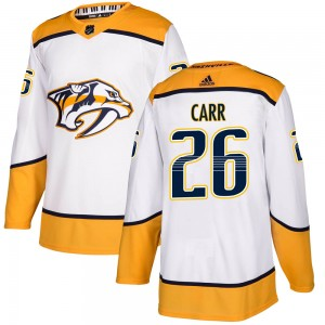 Youth Nashville Predators Daniel Carr Adidas Authentic ized Away Jersey - White