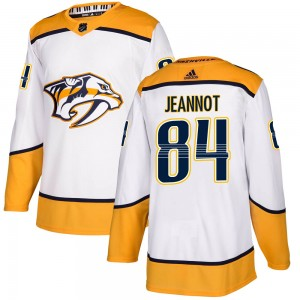 Youth Nashville Predators Tanner Jeannot Adidas Authentic Away Jersey - White