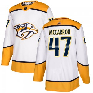 Youth Nashville Predators Michael McCarron Adidas Authentic ized Away Jersey - White