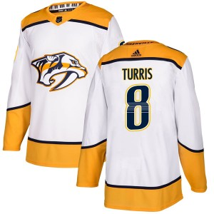 Youth Nashville Predators Kyle Turris Adidas Authentic Away Jersey - White