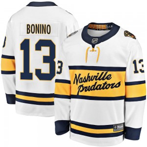 Youth Nashville Predators Nick Bonino Fanatics Branded 2020 Winter Classic Breakaway Jersey - White