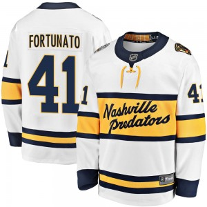 Youth Nashville Predators Brandon Fortunato Fanatics Branded 2020 Winter Classic Breakaway Player Jersey - White