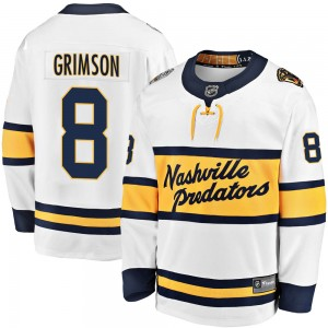 Youth Nashville Predators Stu Grimson Fanatics Branded 2020 Winter Classic Breakaway Jersey - White