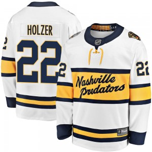 Youth Nashville Predators Korbinian Holzer Fanatics Branded ized 2020 Winter Classic Breakaway Player Jersey - White