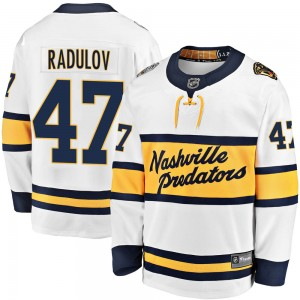 Youth Nashville Predators Alexander Radulov Fanatics Branded 2020 Winter Classic Breakaway Jersey - White
