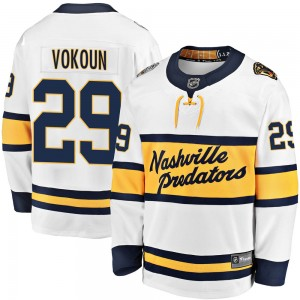 Youth Nashville Predators Tomas Vokoun Fanatics Branded 2020 Winter Classic Breakaway Jersey - White