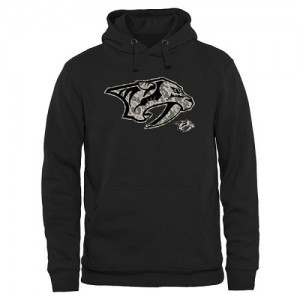 Men's Nashville Predators Rink Warrior Pullover Hoodie - Black