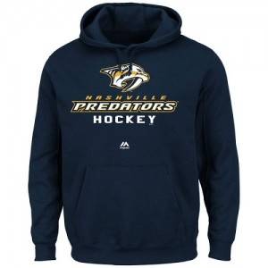 Men's Nashville Predators Majestic Big & Tall Critical Victory Pullover Hoodie - - Navy Blue