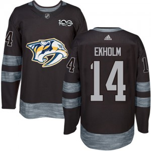 Men's Nashville Predators Mattias Ekholm Adidas Authentic 1917-2017 100th Anniversary Jersey - Black