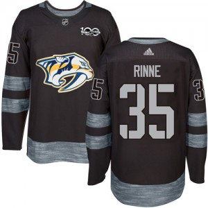 Men's Nashville Predators Pekka Rinne Adidas Authentic 1917-2017 100th Anniversary Jersey - Black