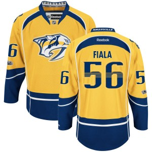Youth Nashville Predators Kevin Fiala Reebok Authentic Home Centennial Patch Jersey - Yellow